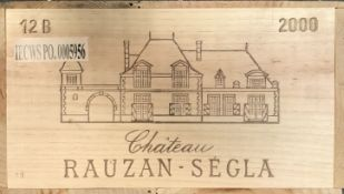 Chateau Rauzan-Segla, Margaux 2me Cru 2000, 12 bottlesCondition report: removed from storage at