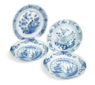 A pair of 18th century Delft blue and white dishes,