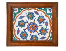 A 16th century Islamic Turkish tile,