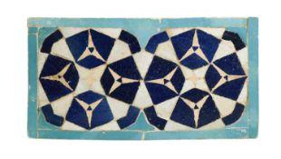 An Islamic Persian mosaic rectangular tile,