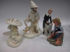 A Royal Doulton figure 'Rumpelstiltskin HN2035,1983', another 'April Shower HN3024, 1983', a Royal