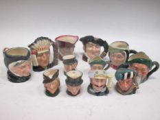 Six small Royal Doulton toby jugs and six smaller (12)