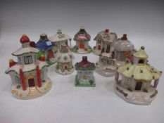 A collection of 12 Victorian and later pastille burners (12)