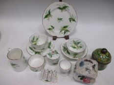 A collection of porcelain, to include a Wedgwood 'Chantecler' pattern part dinner service. Christian