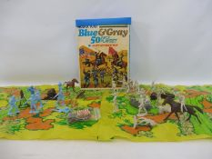 A Marx Toys Blues and Greys American Civil War play set (unchecked).
