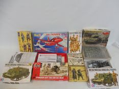 Nine assorted Tamia Airfix kits, all military (unchecked).
