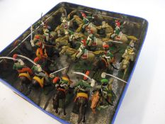 A tray of Austrian Cavalry Dragoons, painted to a good standard.