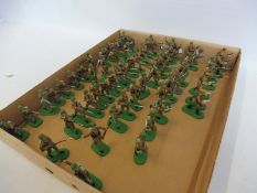 A quantity of Italian Infantry painted to a good standard, armies in plastic.