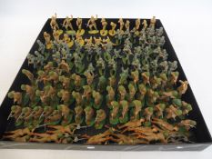 A tray of painted plastic soldiers, good standard including Russian Infantry, German Infantry and