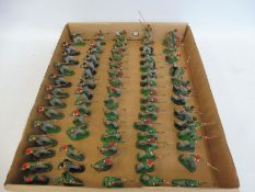 A tray of Turkish/Ottoman regimental soldiers, all overpainted to a good standard.
