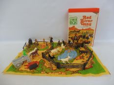A Marx Toys Red River Gang American Civil War play set (unchecked).