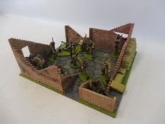 A well painted diorama British WWII Infantry.