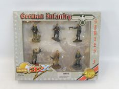 A boxed 21st Century Toys Ultimate Soldier WWII German Infantry.