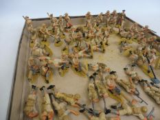 A tray of Airfix plastic figures, all British Desert 8th Army including Montgomery, painted to a