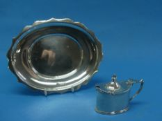 A Victorian silver Mustard Pot, by Haseler Brothers, hallmarked London, 1893, of plain oval form