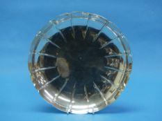 An Elizabeth II circular silver Strawberry Dish, by S J Rose & Son, hallmarked London, 1960, of