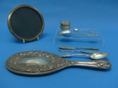 A small quantity of Silver, including two small butter knives, a mustard spoon, teaspoon , silver