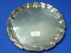 A George V silver Tray, by Joseph Rodgers & Sons, hallmarked Sheffield, 1920, of shaped circular