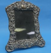 An Edwardian silver mounted Easel Frame, by William Comyns & Sons, hallmarked London, 1901, with