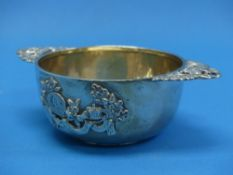 A Victorian commemorative silver Bowl, by Charles Edwards, hallmarked London 1897, with applied