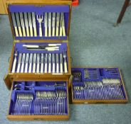 A Christopher Johnson & Co (Sheffield) 107-piece part-canteen of silver-plated cutlery, including