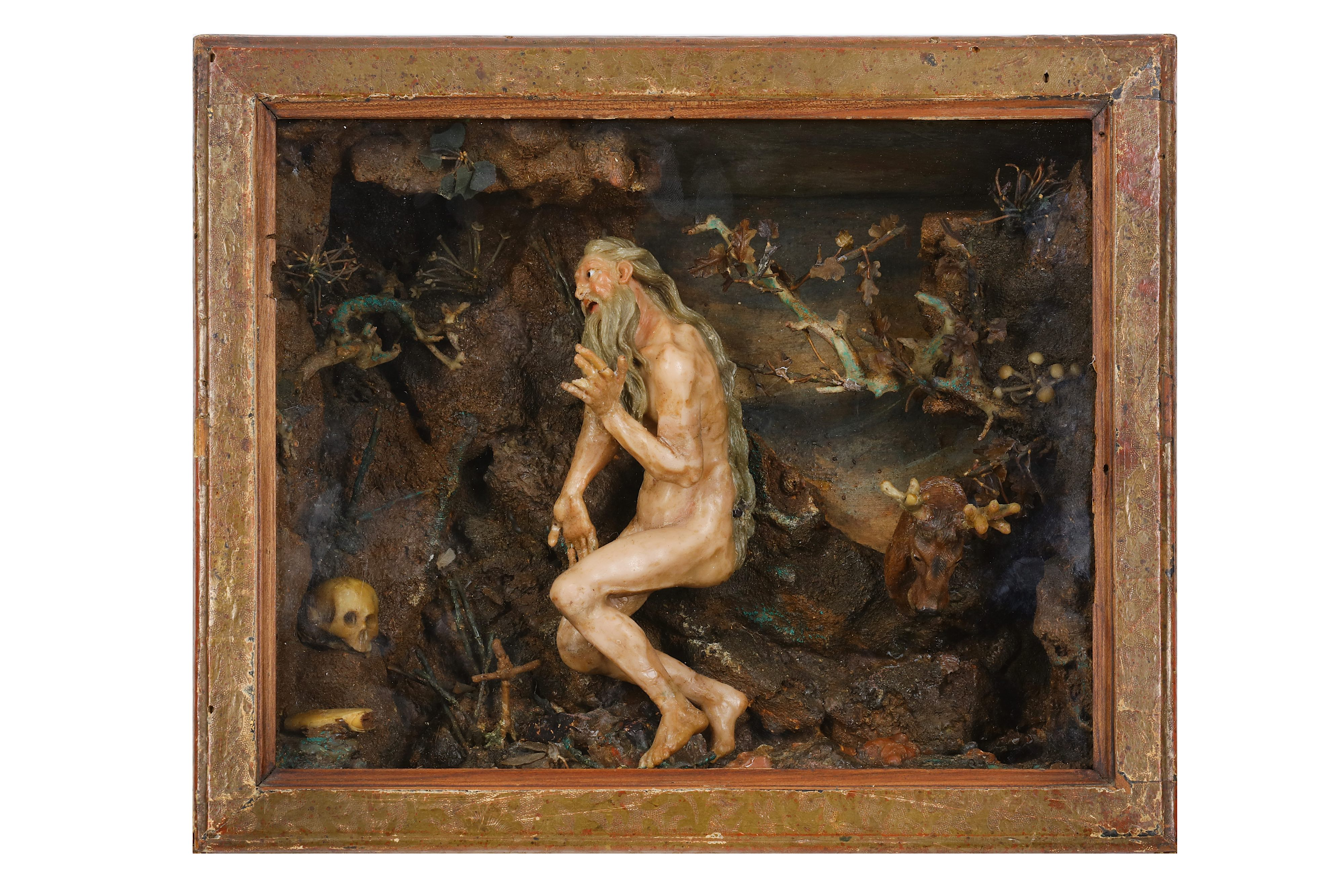 Lot 30 - ATTRIBUTED TO CATERINA DE JULIANIS (ITALIAN, 1670-1742): ST JEROME IN THE WILDERNESS