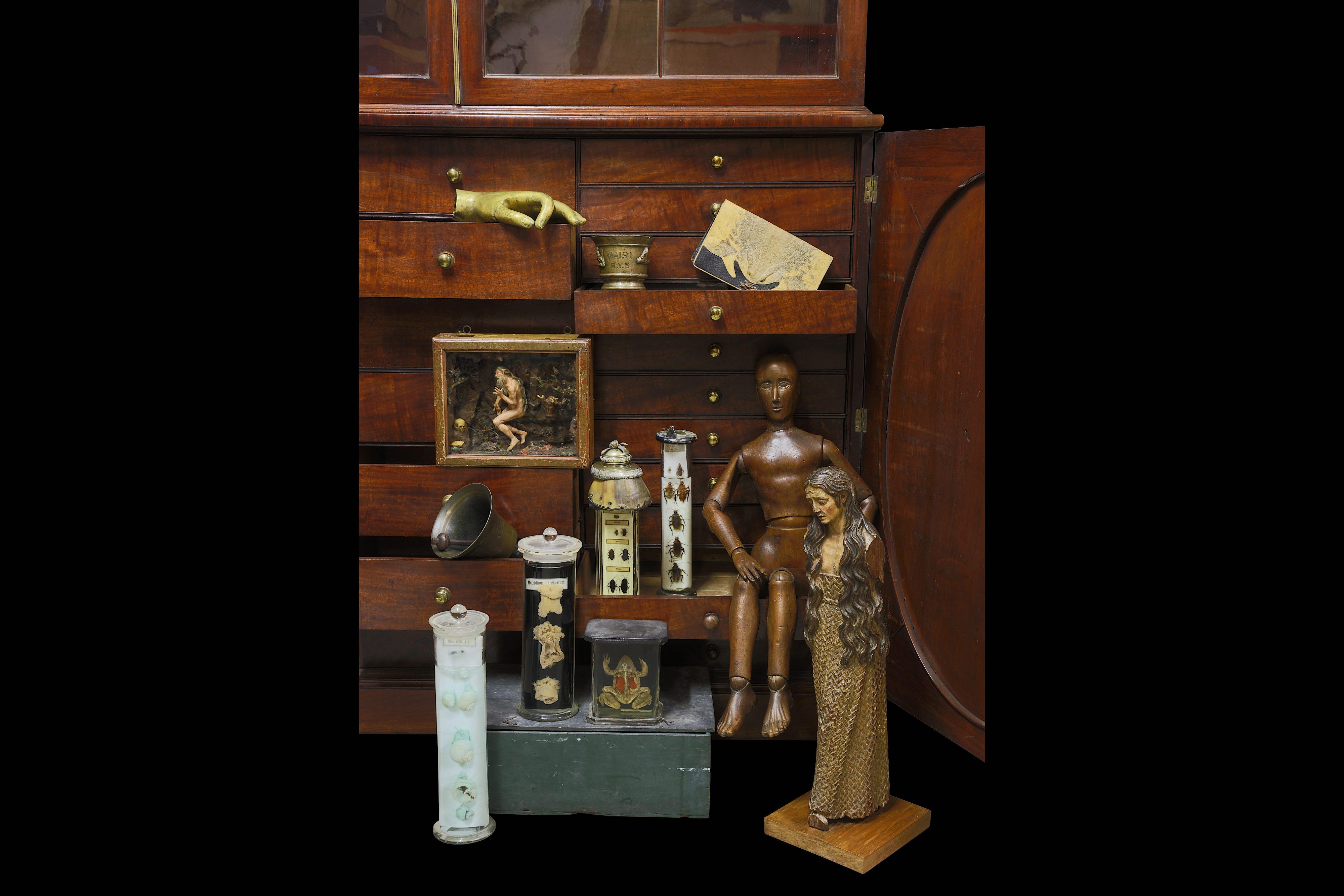 Lot 21 - A GEORGE III MAHOGANY COLLECTOR'S CABINET, CIRCA 1810
