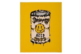 Ryan Callanan aka RYCA (British, b.1981) 'Dripping Acid Soup' Yellow