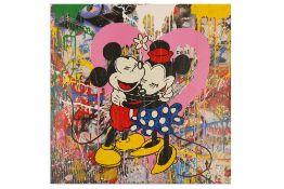 Mr Brainwash (French, b.1966) 'Mickey & Minnie'