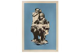 Eelus (British, b.1979) 'Chewbarber' Blue Edition