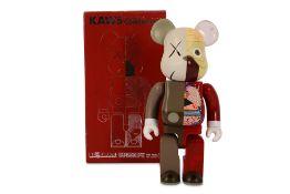 KAWS (American, b.1974) 'OriginalFake Dissected Bearbrick Companion 400% (Red)'