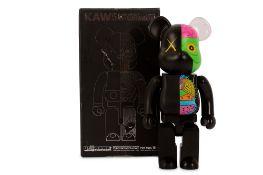 KAWS (American, b.1974) 'OriginalFake Dissected Bearbrick Companion 400% (Black)'