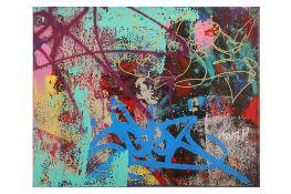 Cope2 (American, b.1968) 'Street Piece on Canvas'