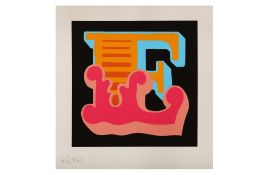 Ben Eine (British, b.1970) 'E (Triptych)'