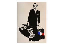 Blek Le Rat (French, b.1951) 'The Man Who Walks Through Walls'