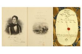 TWO VOLUMES OF THE WORKS OF LORD BYRON