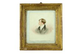 A PORTRAIT MINIATURE OF LORD BYRON AFTER GEORGE HENRY HARLOW
