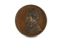 A COMMEMORATIVE BRONZE MEDALLION FOR LORD BYRON