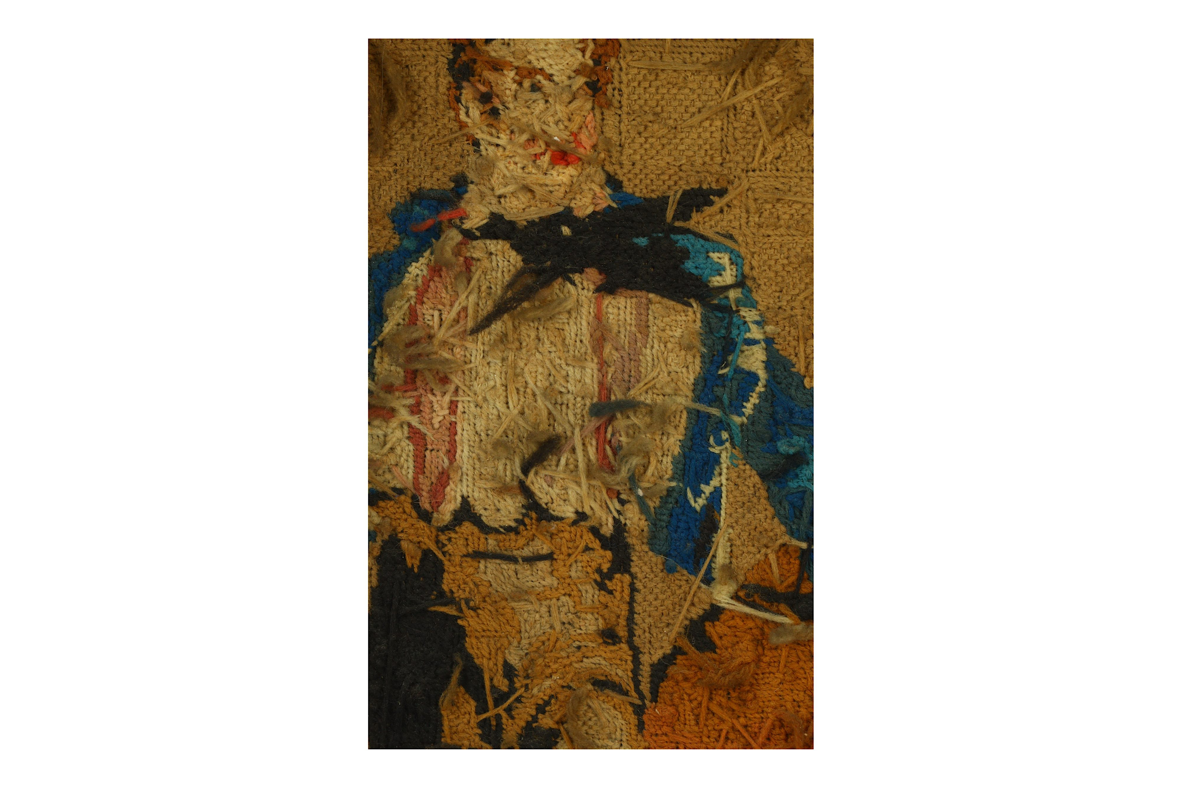 Lot 72 - A FRAMED NEEDLE POINT OF LORD BYRON'S FIRST TRIP TO GREECE