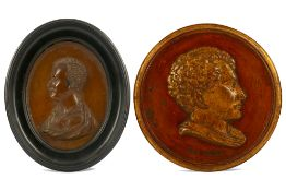 TWO PORTRAIT ROUNDELS OF LORD BYRON