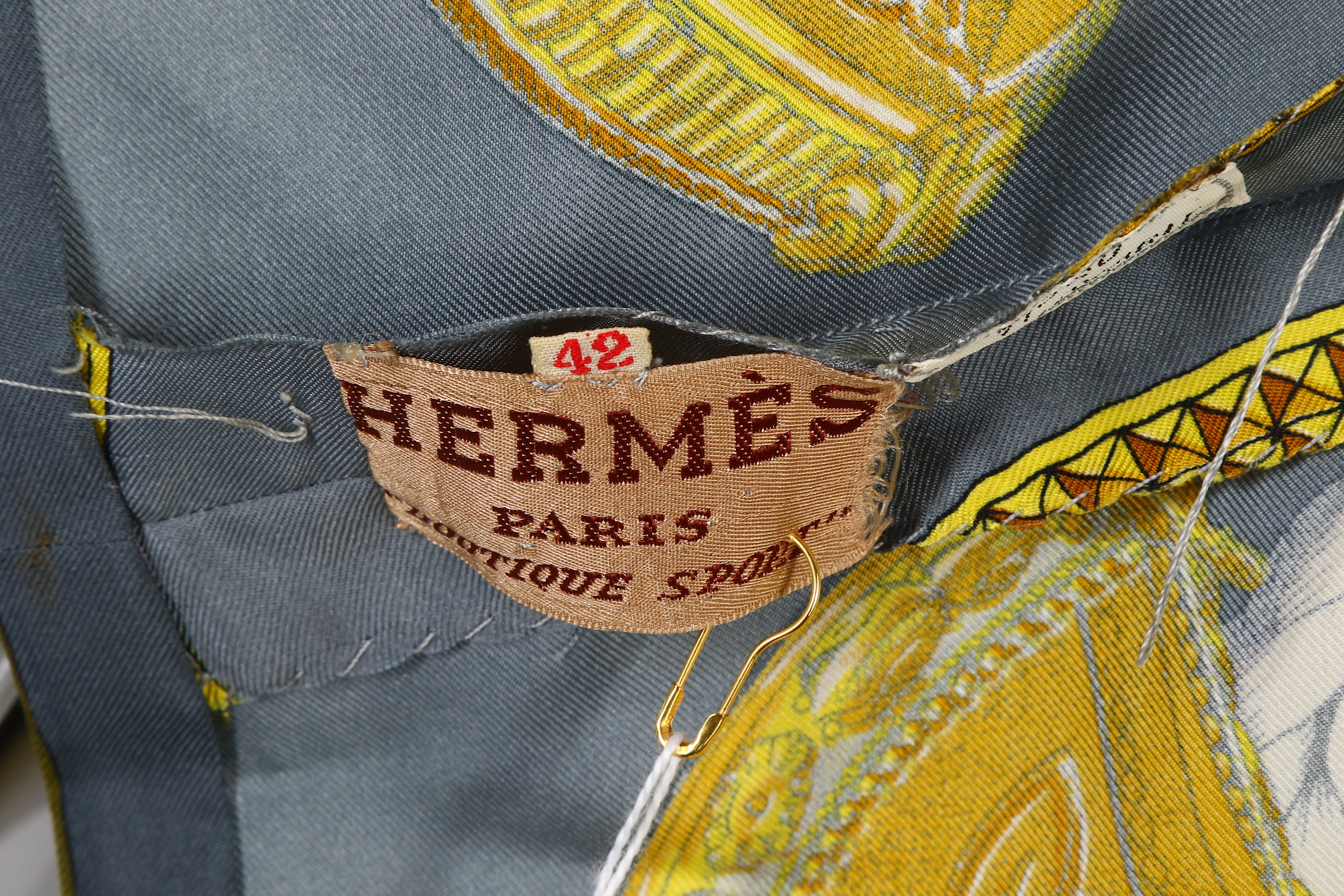 Lot 76 - Two Pieces of Hermes Silk Clothing - sizes 42 and 46