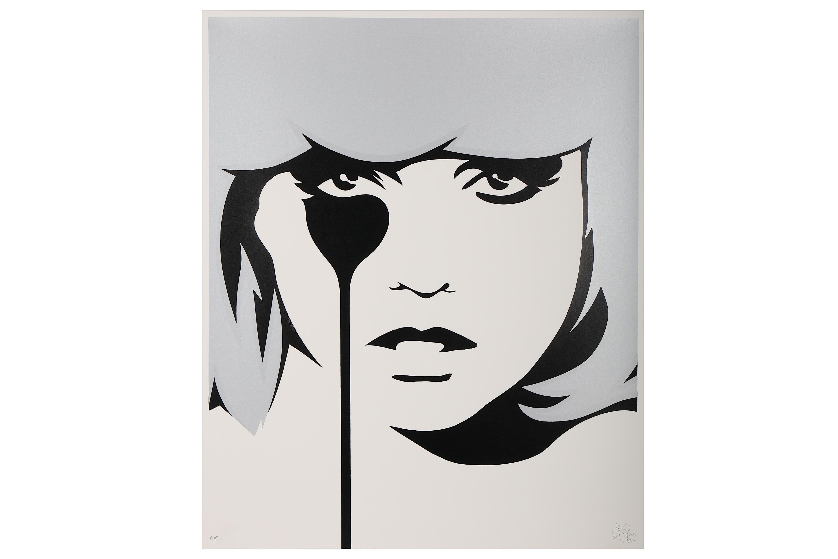 Lot 49 - § Pure Evil (British, b.1968), 'Blondie (Silver)'