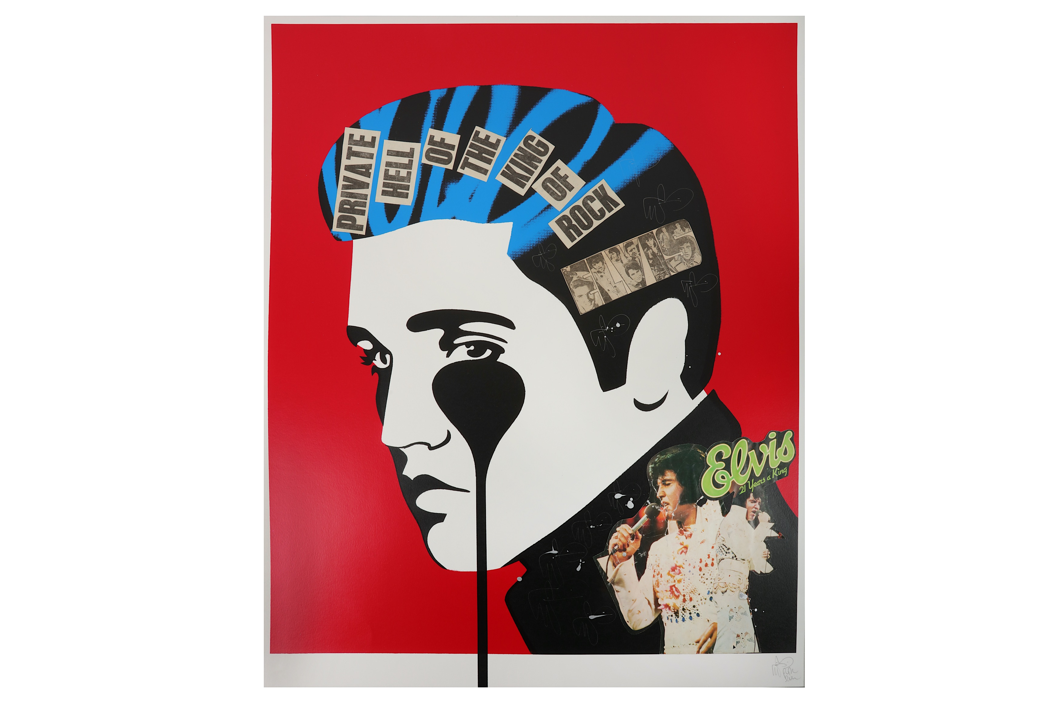 Lot 59 - § Pure Evil (British, b.1968), 'Elvis Nightmare'