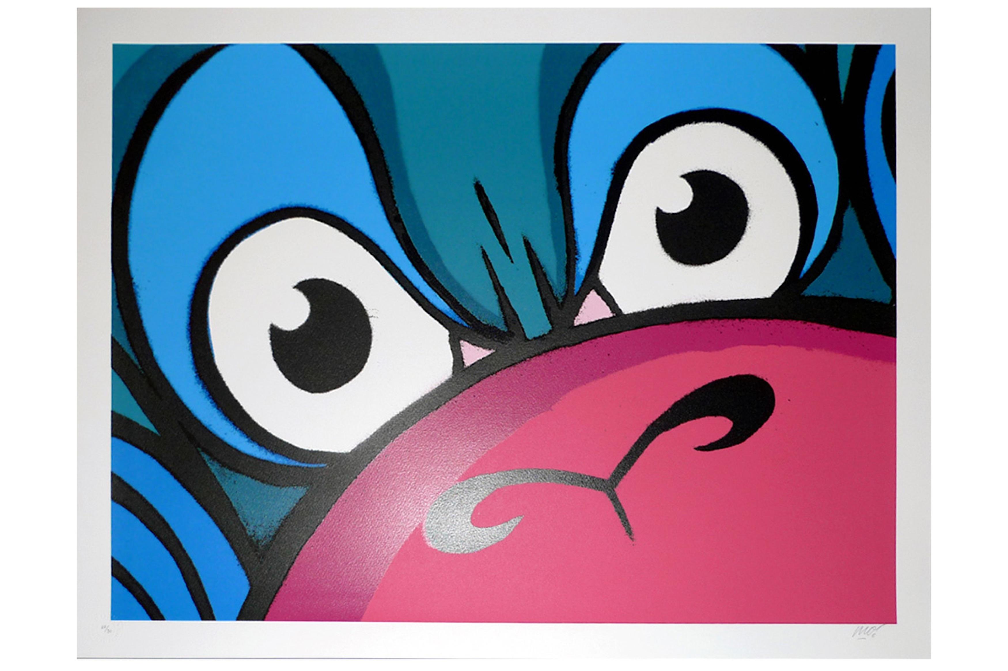 Lot 61 - § Mighty Mo (British, b.1985), 'Mighty Monkey (Blue Edition)'