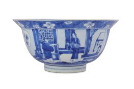 A CHINESE BLUE AND WHITE BOWL.