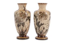 MARTIN BROTHERS - a pair of stoneware vases
