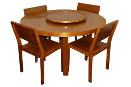 ALVAR AALTO FOR FINMAR LTD, FINLAND: Table 91 with lazy susan