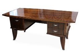 FRANCE: an Art Deco macassar ebony desk, designed 1930s,