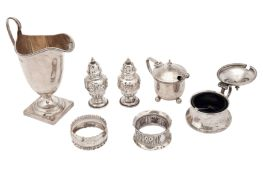 A mixed group of sterling silver items