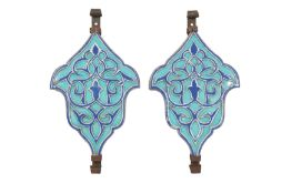 A PAIR OF OTTOMAN-REVIVAL ARCHITECTURAL POTTERY WALL TILES